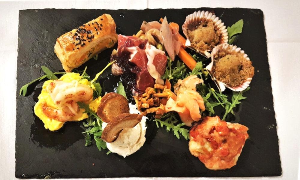 Tavolozza di antipasti misti. Ristorazione e catering Trevisani a Bassano, Vicenza